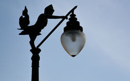 Silhouette of Lantern. Thai style street lamp in Bangkok, Thailand Stock Photography
