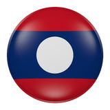 Silhouette of Laos button Stock Image