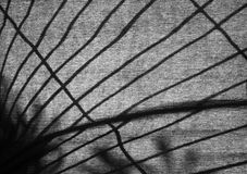 Silhouette of a lattice on a fabric Royalty Free Stock Images