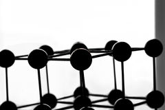 Silhouette of a lattice model Stock Image