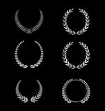 Silhouette Laurel Wreaths Set Royalty Free Stock Photo