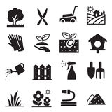 Silhouette Lawn icons Stock Images