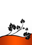 Silhouette leaf Royalty Free Stock Photos
