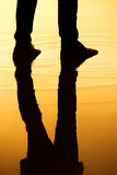 Silhouette legs reflection Stock Photography