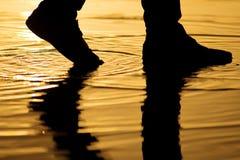Silhouette legs reflection Stock Photo