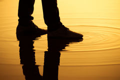 Silhouette legs reflection Stock Image