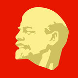 Silhouette of the lenin Royalty Free Stock Photos