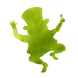 Silhouette of a leprechaun Royalty Free Stock Photo