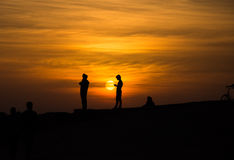 Silhouette life Stock Images