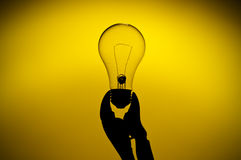 A silhouette of a light bulb Stock Photos