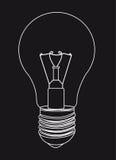 Silhouette light bulb Stock Photo
