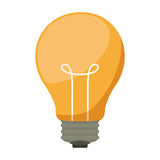 Silhouette light bulb with filaments. Vector illustration Stock Photography