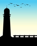 Silhouette lighthouse Royalty Free Stock Photography