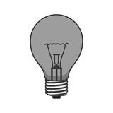 Silhouette ligth bulb electric with caps and filaments. Vector illustration Royalty Free Stock Image