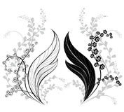 Silhouette of lily of the valley Stock Images