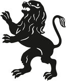 Silhouette of a lion Stock Photos