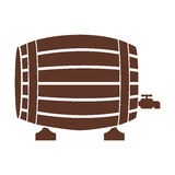 Silhouette with Liquor barrel in brown color Royalty Free Stock Photos