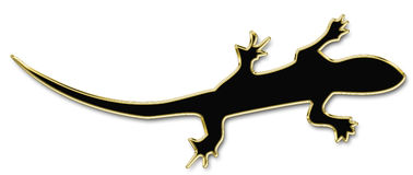 Silhouette of lizard Royalty Free Stock Photo