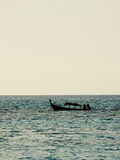 Silhouette local fishing boat in Andaman sea, Thailand Stock Photo