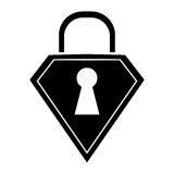 Silhouette lock shield protection security technology Royalty Free Stock Photos