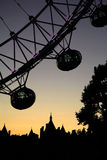 Silhouette of London Eye Royalty Free Stock Photography