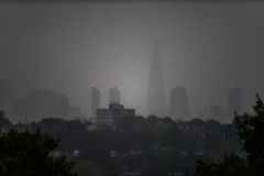 Silhouette of London skyline Stock Photo