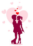 Silhouette of love Royalty Free Stock Images