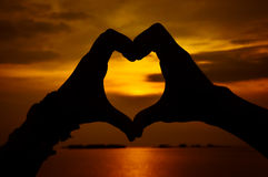 Silhouette love Royalty Free Stock Image