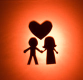 Silhouette of love. Royalty Free Stock Photo