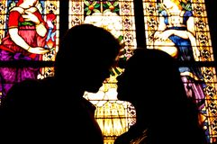 Silhouette of Love Stock Images