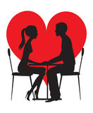 Silhouette of lovers Royalty Free Stock Image