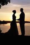 Silhouette Lovers Royalty Free Stock Photo