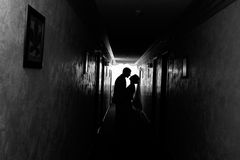 Silhouette of lovers Royalty Free Stock Images