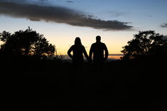 Silhouette lovers Royalty Free Stock Photography