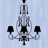 Silhouette of luxury chandelier Stock Photography