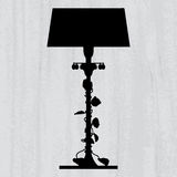Silhouette of luxury lamp Royalty Free Stock Photo