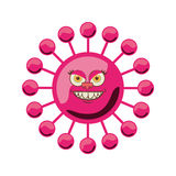 Silhouette magenta with bacteria cartoon shape Stock Photography