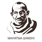 Silhouette Mahatma Gandhi Royalty Free Stock Images