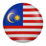 Silhouette of Malaysia button Royalty Free Stock Photography