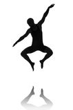 Silhouette of male dancer Stock Image