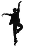 Silhouette of male dancer Royalty Free Stock Image