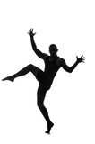 Silhouette of male dancer Stock Images