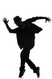 Silhouette of male dancer Royalty Free Stock Photography