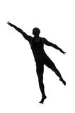 Silhouette of male dancer Stock Photo