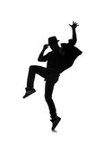 Silhouette of male dancer Royalty Free Stock Images