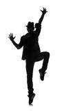 Silhouette of male dancer Royalty Free Stock Photos