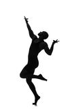 Silhouette of male dancer Stock Photography