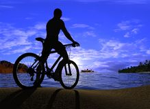 Silhouette of man Stock Images
