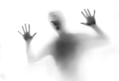Silhouette of man. Scary silhouette of man ,black and white Stock Images