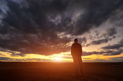 Silhouette of man Royalty Free Stock Image